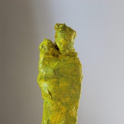 Andrea Grote, O.T. (Maria 2), Holz, Plastikfolie, Arcylfarbe, Kleber, 2020