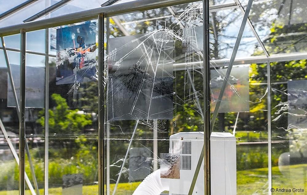Andrea Grote, O.T.(change), Installation 2017, Lübben Schlosspark